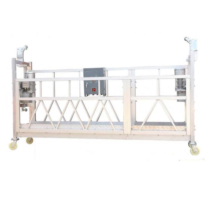 Čelik obojen / vruće pocinčan / aluminijum ZLP630 radna platforma suspendovana za građevinsko fasadiranje